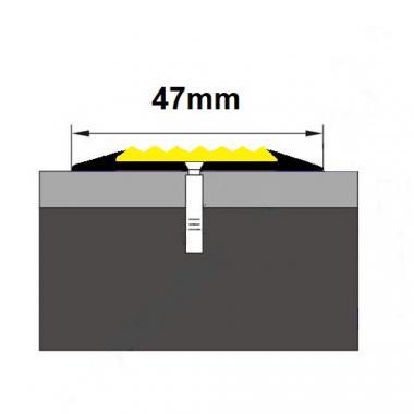 Порог одноуровневый алюминиевый A-10 (Сырой, без покрытия)