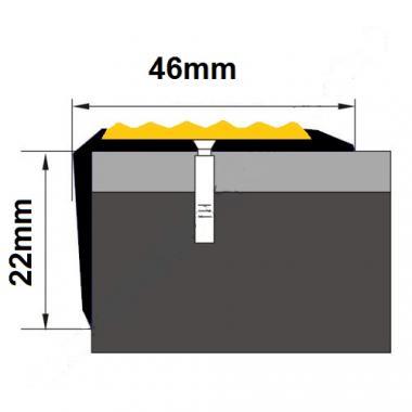 Порог угловой алюминиевый А-38 (Серебро глянцевое)