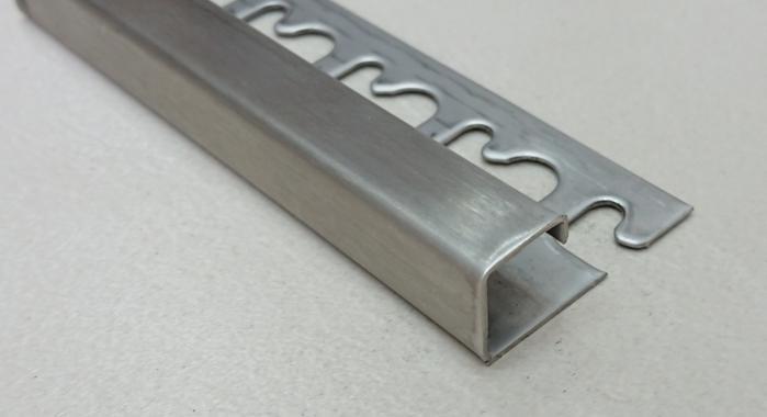 Раскладка для плитки нержавеющая сталь П-образная STQ-12 (Нержавейка сатинированная)