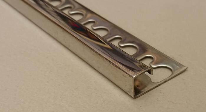 Раскладка для плитки нержавеющая сталь П-образная STQ-12 (Нержавейка полированная)