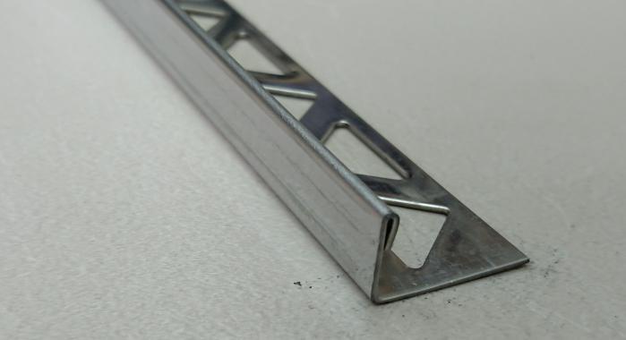 Раскладка для плитки нержавеющая сталь Г-образная ST-6 (Нержавейка шлифованная)