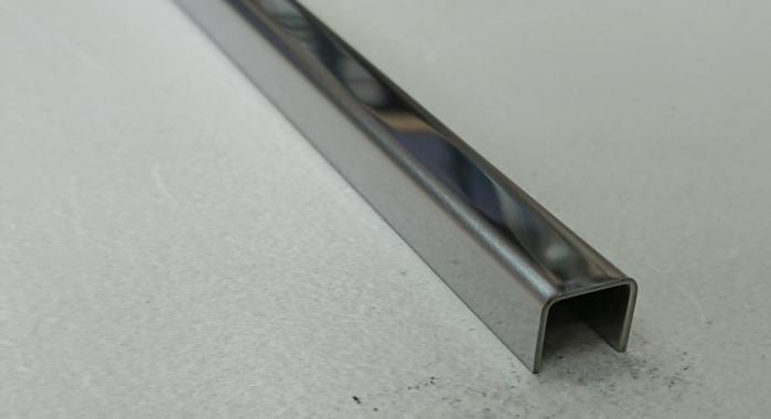 Профиль П-образный нержавеющая сталь STP-10*10*10 (Нержавейка полированная)