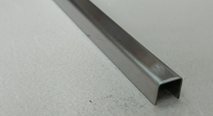Профиль П-образный нержавеющая сталь STP-10*10*10 (Нержавейка шлифованная)