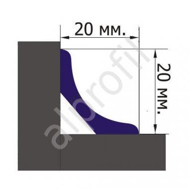 Галтель ПВХ 20*20 (Белый)