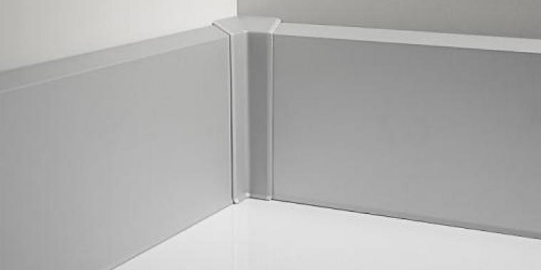 Угол внутренний алюминий для плинтуса ПК-70