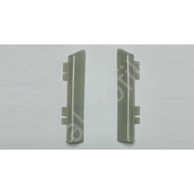 Заглушка алюминий для плинтуса ПК-70 (пара)