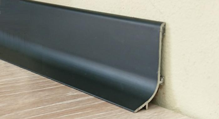 Плинтус алюминиевый Q63 (Черный матовый)