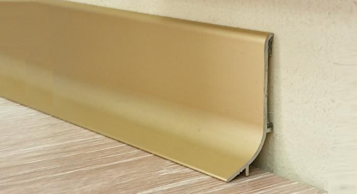 Плинтус алюминиевый Q63 (Золото матовое)