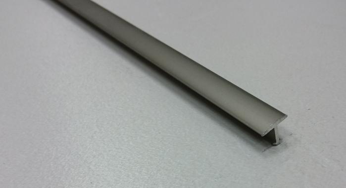 Профиль Т-образный алюминиевый АЛТ-10 (Шампань матовая)