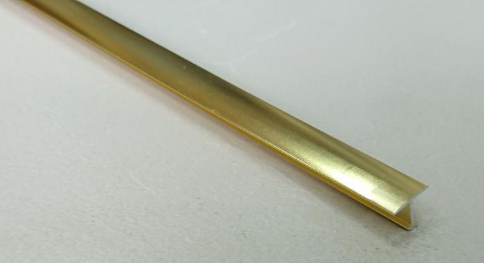Профиль Т-образный алюминиевый АЛТ-10 (Золото глянцевое)