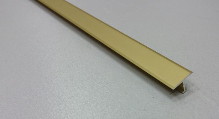 Профиль Т-образный алюминиевый АЛТ-13 (Золото матовое)