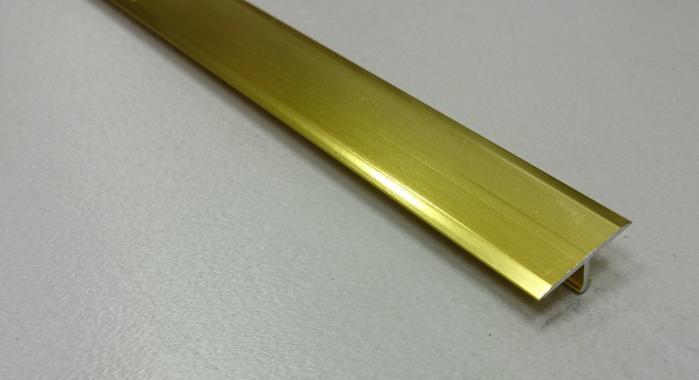 Профиль Т-образный алюминиевый АЛТ-30 (Золото глянцевое)