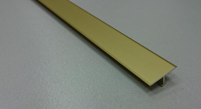 Профиль Т-образный алюминиевый АЛТ-20 (Золото матовое)