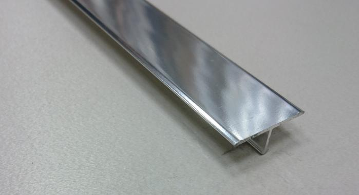 Профиль Т-образный алюминиевый АЛТ-26 (Серебро глянцевое)