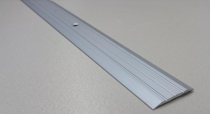 Порог алюминиевый одноуровневый ПА-2 (Серебро матовое)