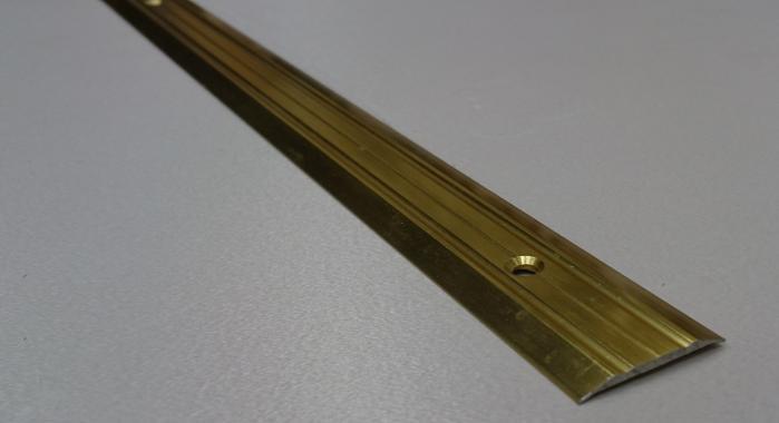 Порог алюминиевый одноуровневый ПА-2 (Золото глянцевое)