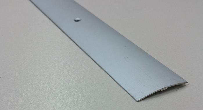 Порог алюминиевый одноуровневый ПА-19 (Серебро матовое)