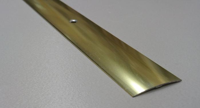 Порог алюминиевый одноуровневый ПА-19 (Золото глянцевое)