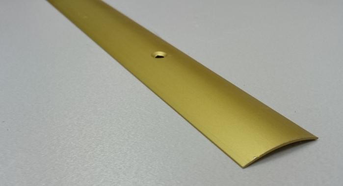 Порог алюминиевый одноуровневый ПА-19 (Золото матовое)