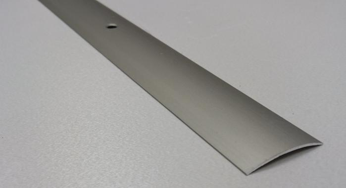 Порог алюминиевый одноуровневый ПА-19 (Шампань матовая)