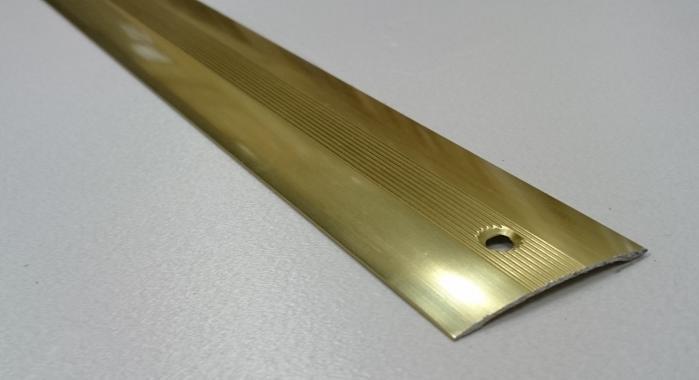 Порог алюминиевый одноуровневый ПА-7 (Золото глянцевое)