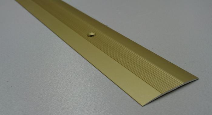 Порог алюминиевый одноуровневый ПА-7 (Золото матовое)