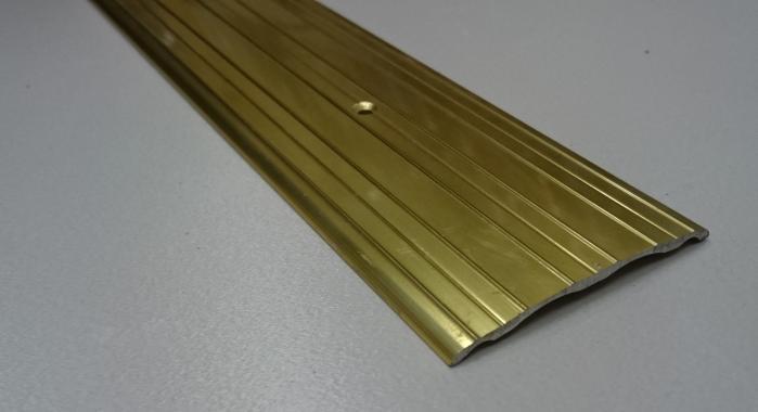 Порог алюминиевый одноуровневый ПА-10 (Золото глянцевое)