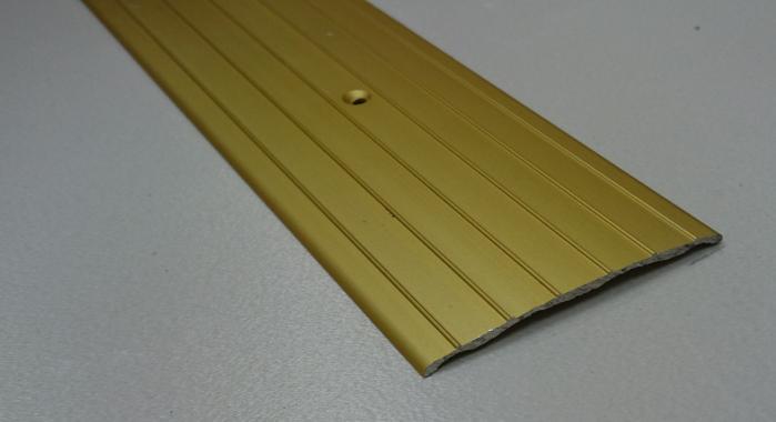 Порог алюминиевый одноуровневый ПА-10 (Золото матовое)