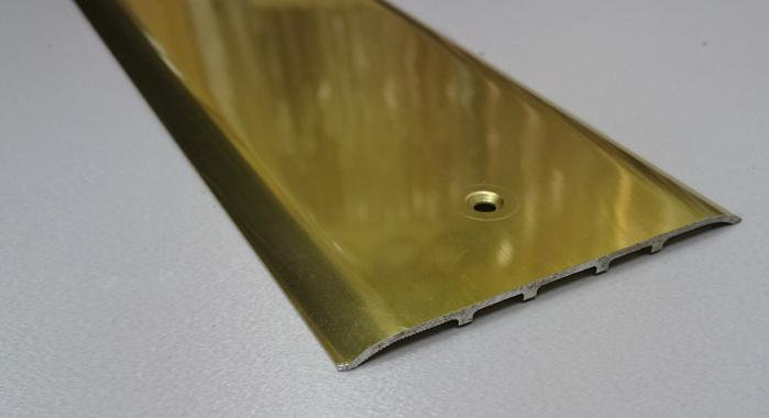 Порог алюминиевый одноуровневый ПА-15 (Золото глянцевое)