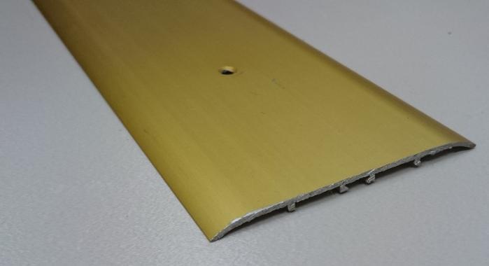 Порог алюминиевый одноуровневый ПА-15 (Золото матовое)