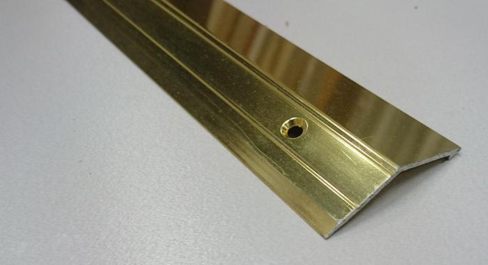 Порог алюминиевый с перепадом ПА-20 (Золото глянцевое)