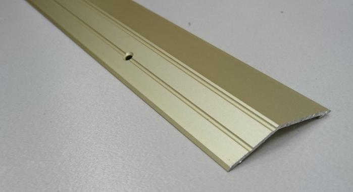 Порог алюминиевый с перепадом ПА-20 (Золото матовое)