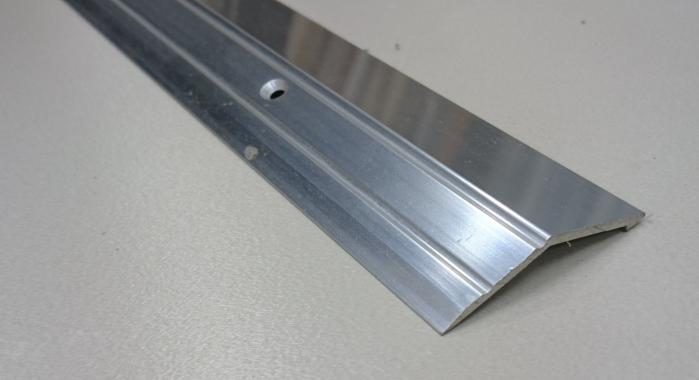 Порог алюминиевый с перепадом ПА-20 (Серебро глянцевое)