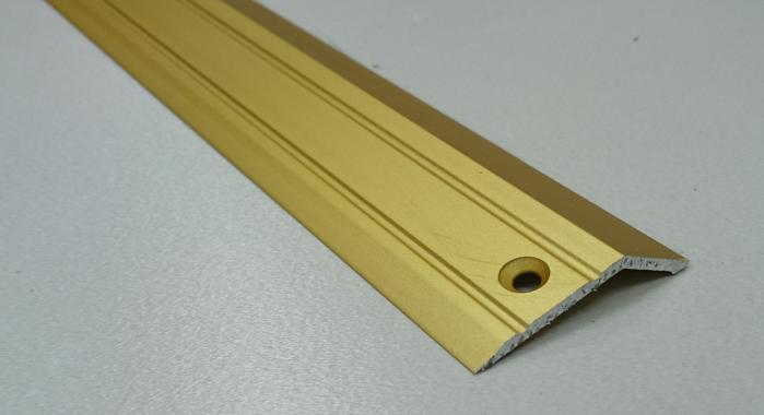 Порог алюминиевый с перепадом ПА-32*10 (Золото матовое)