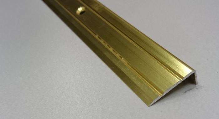 Порог алюминиевый угловой ПА-3 (Золото глянцевое)