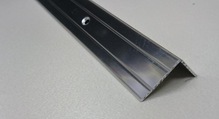 Порог алюминиевый угловой ПА-5 (Серебро глянцевое)
