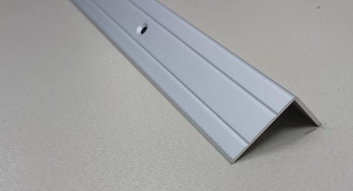 Порог алюминиевый угловой ПА-5 (Серебро матовое)