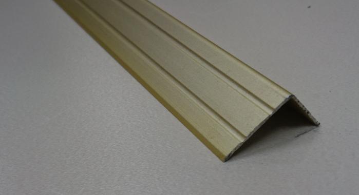 Порог алюминиевый угловой ПА-5 (Золото матовое)