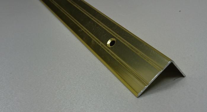 Порог алюминиевый угловой ПА-5 (Золото глянцевое)