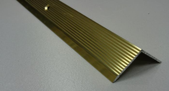 Порог алюминиевый угловой ПА-22 (Золото глянцевое)