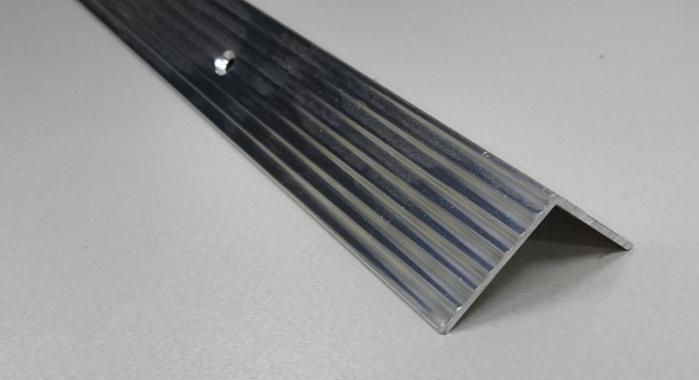 Порог алюминиевый угловой ПА-22 (Серебро глянцевое)