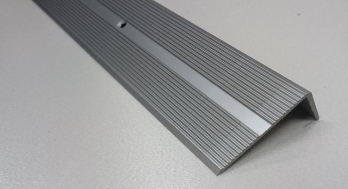 Порог алюминиевый угловой ПА-9 (Шампань матовая)