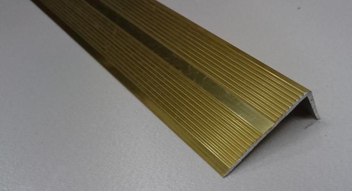 Порог алюминиевый угловой ПА-9 (Золото глянцевое)