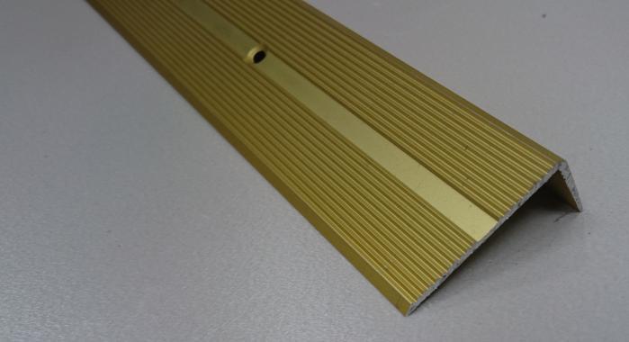 Порог алюминиевый угловой ПА-9 (Золото матовое)