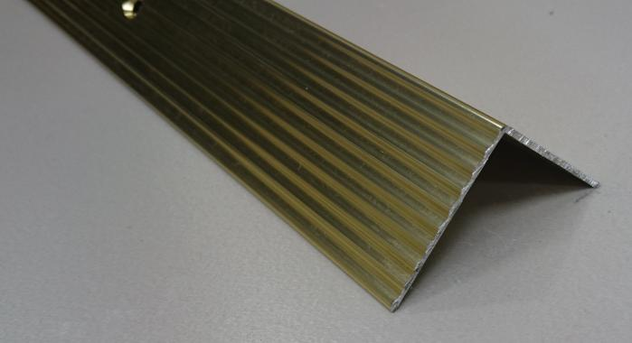 Порог алюминиевый угловой ПА-24 (Золото глянцевое)