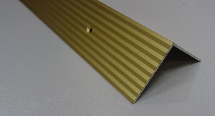 Порог алюминиевый угловой ПА-24 (Золото матовое)