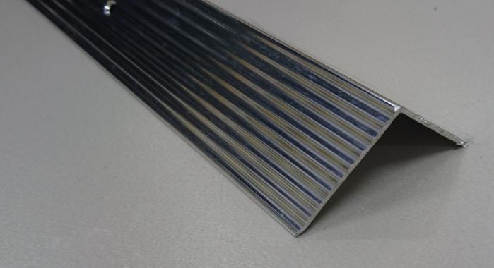 Порог алюминиевый угловой ПА-24 (Серебро глянцевое)