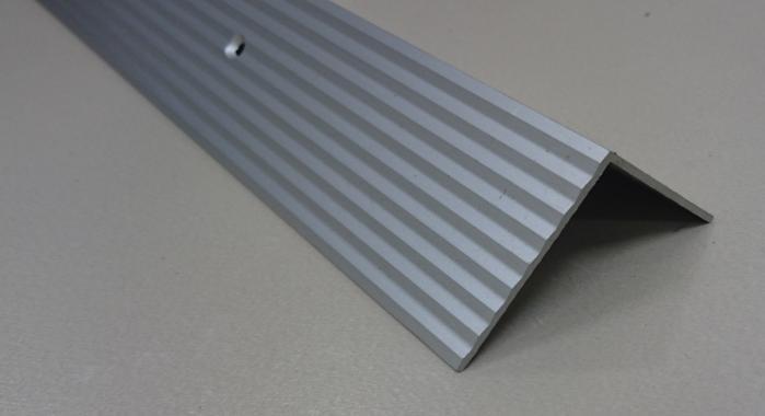 Порог алюминиевый угловой ПА-24 (Серебро матовое)