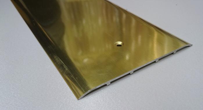 Порог алюминиевый одноуровневый ПА-32 (Золото глянцевое)