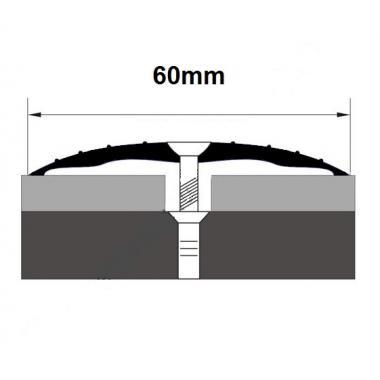 Порог алюминиевый одноуровневый ПА-10 (Серебро глянцевое)